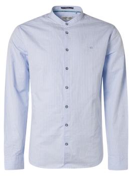Stehkragenhemd mit Leinen, Farbe: Arctic blue
