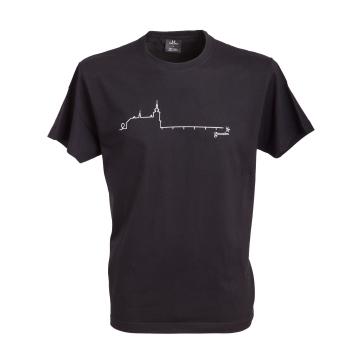 Schloss Ort T-Shirt, Baumwolle, Farbe: schwarz
