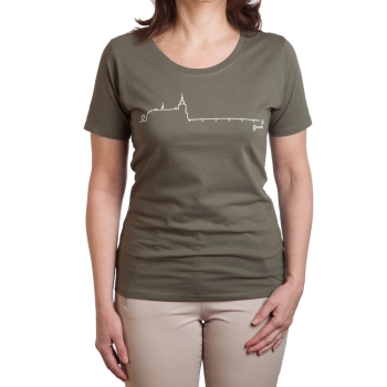 Schloss Ort T-Shirt, Farbe: olive